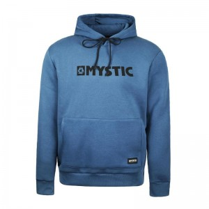 BLUZA MYSTIC BRAND HOOD SWEAT DENIM BLUE