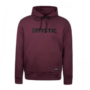BLUZA MYSTIC BRAND HOOD SWEAT OXBLOOD RED
